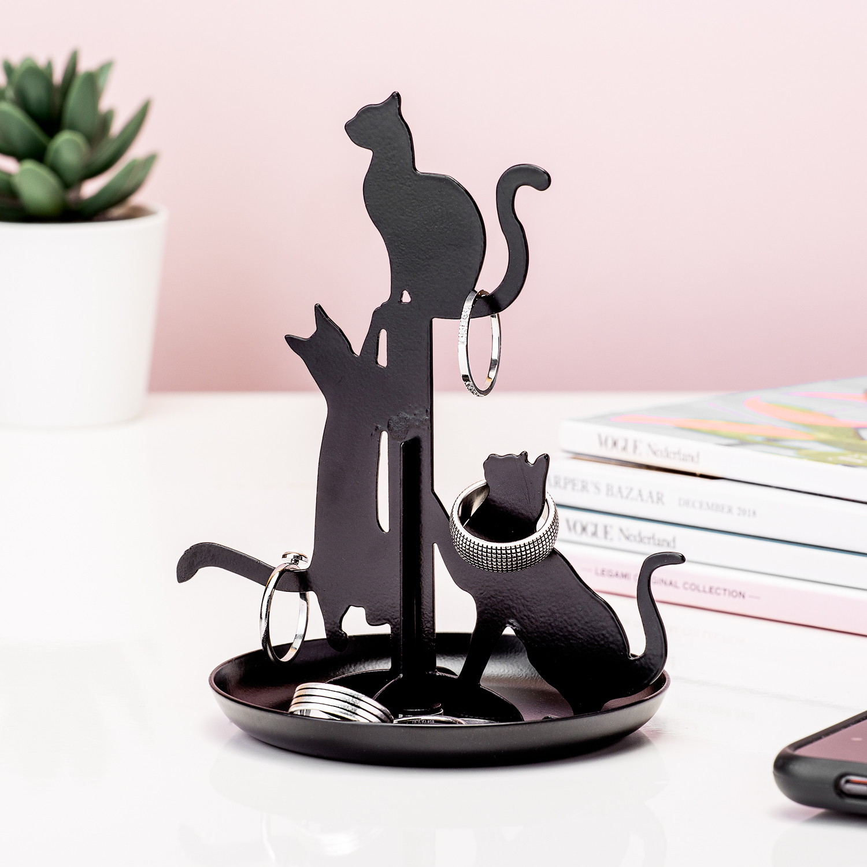 Zwarte Kat Sieradenhouder