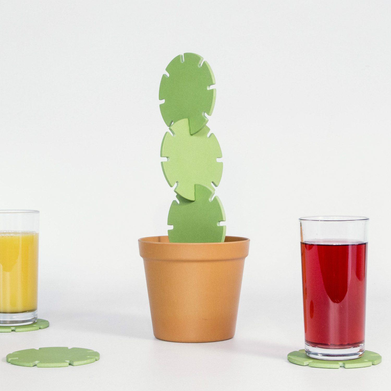 Suck UK Cactus onderzetters (set van 6)