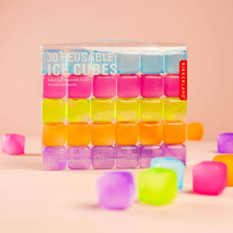 Kikkerland Herbruikbare Ijsblokjes (set Van 30) - Kleur