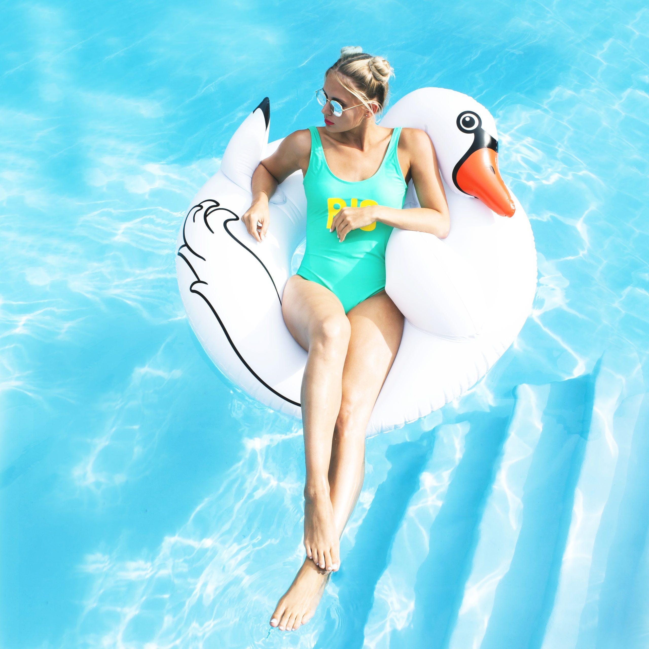 BigMouth Zwaan Zwemband - Wit