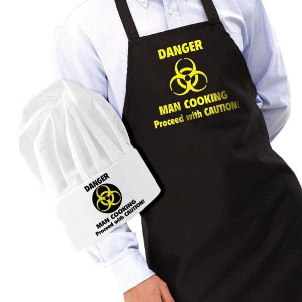 Iggi Danger: Man Cooking Schort En Koksmuts