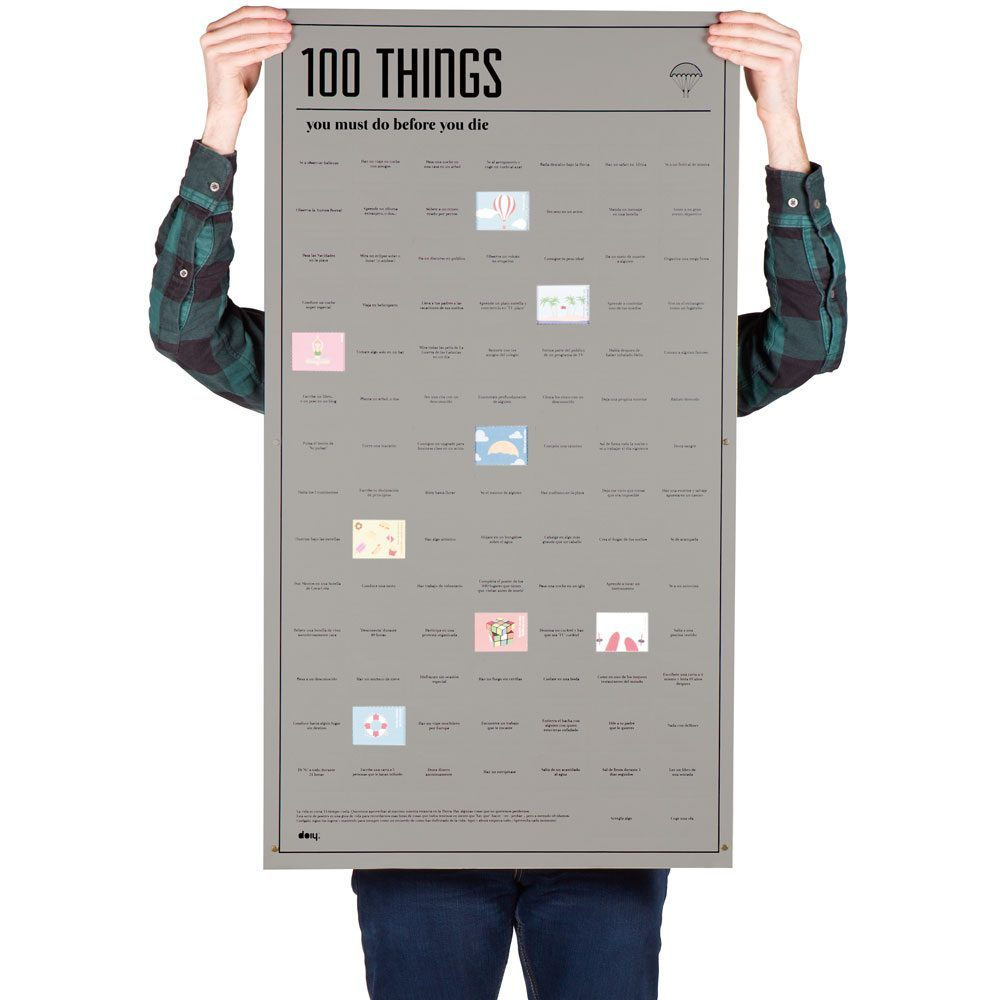 Bucketlist Poster - 100 Things To Do - DOIY