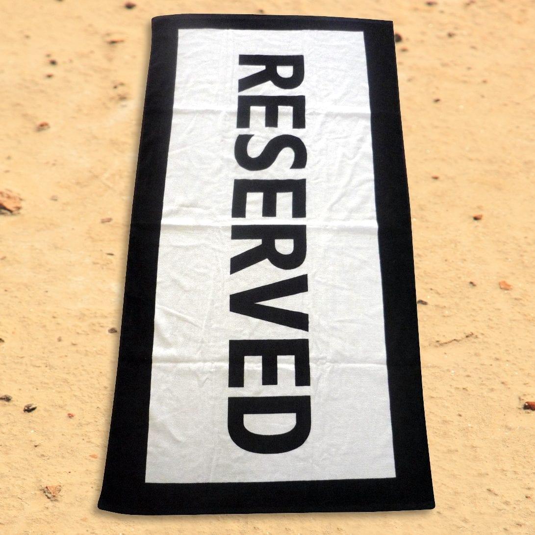 Reserved Badhanddoek