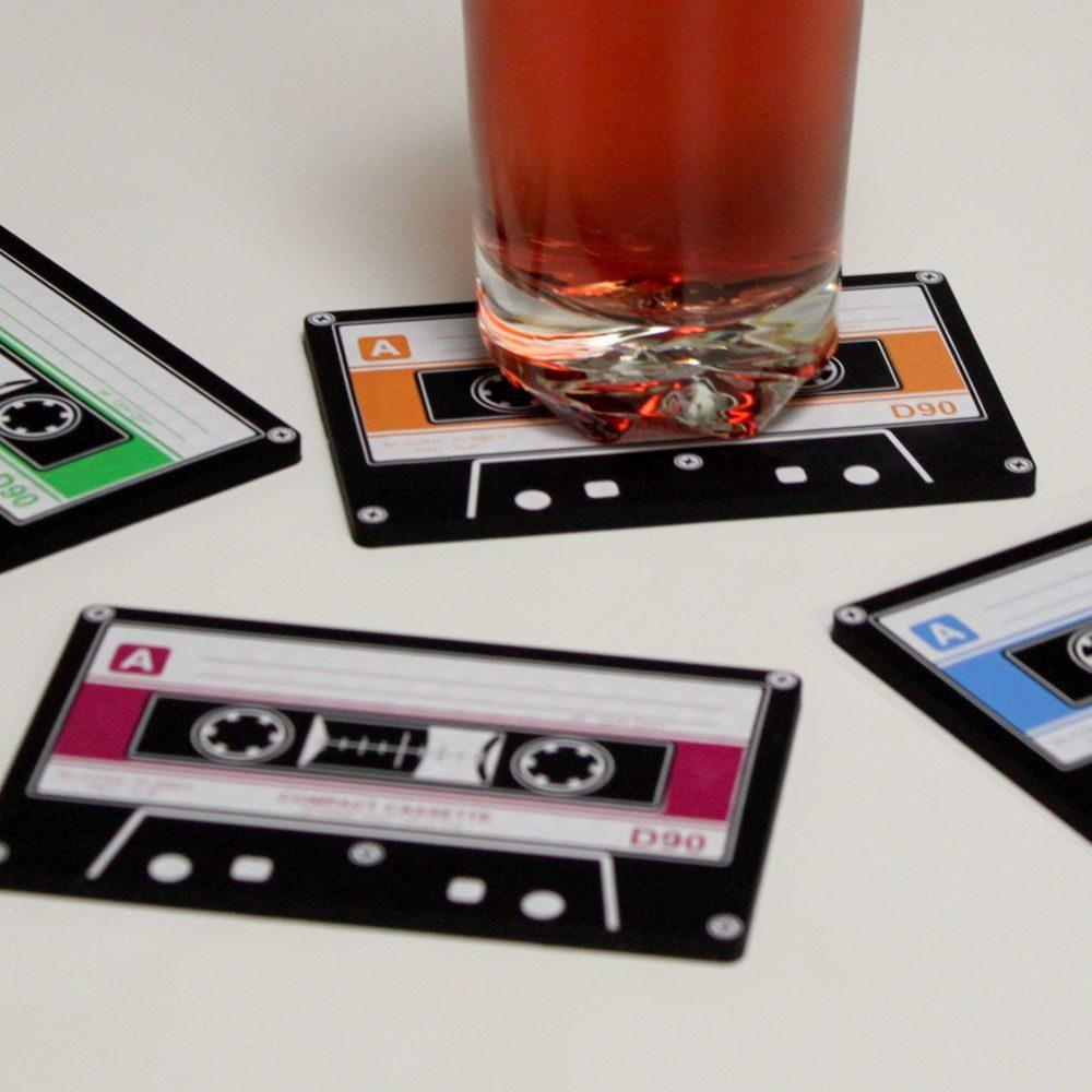 Cassettebandjes Onderzetters (Set Van 4)