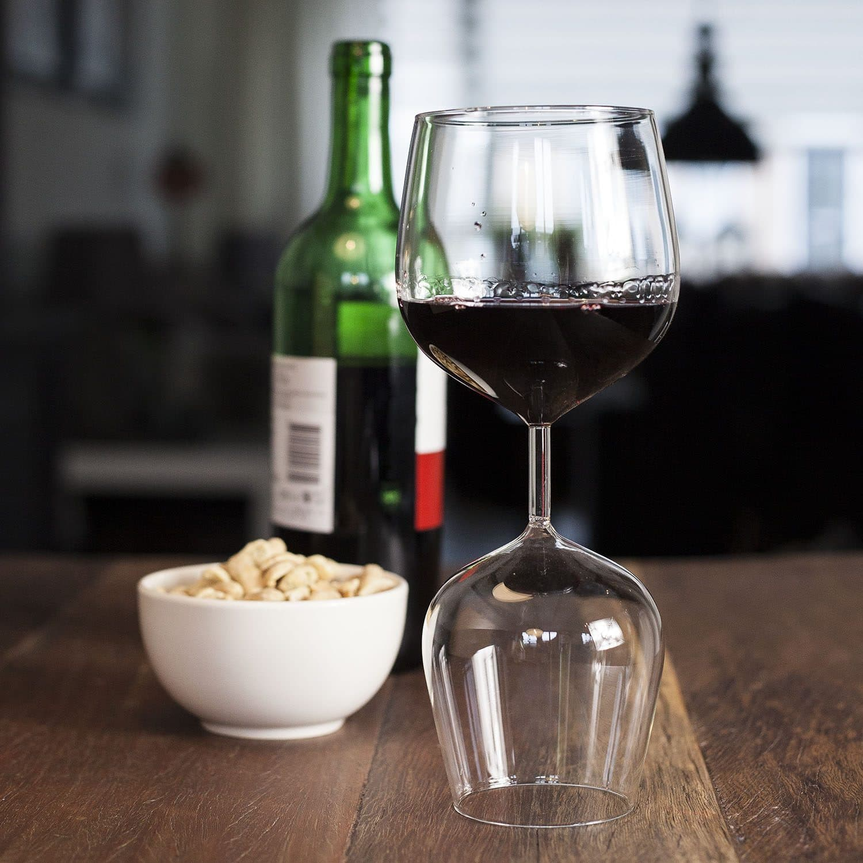 Rood En Witte Wijnglas