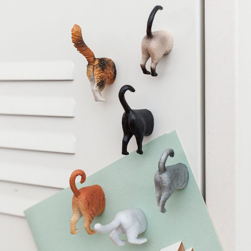 Butt Magneten (Set Van 6) - Katten - Kikkerland