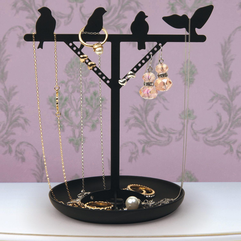 Sieradenboom Met Vogels - Zwart