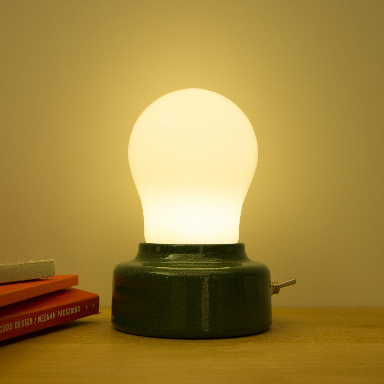Kikkerland Gloeilamp Bureaulampje