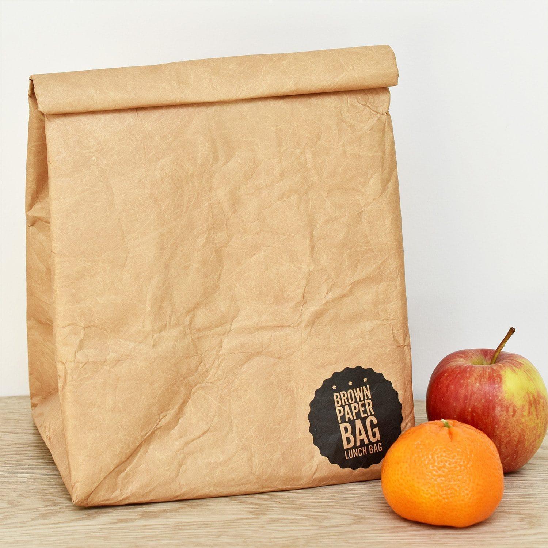 Bruine Papieren Lunch Bag - Luckies
