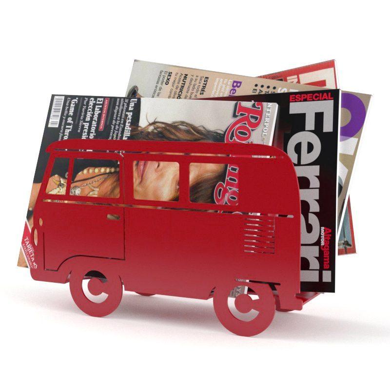 Busje Tijdschriftenrek - Rood