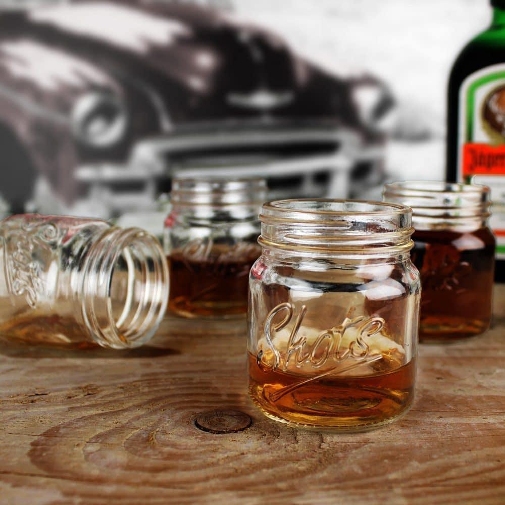Mason Jar shotglaasjes (set van 4)