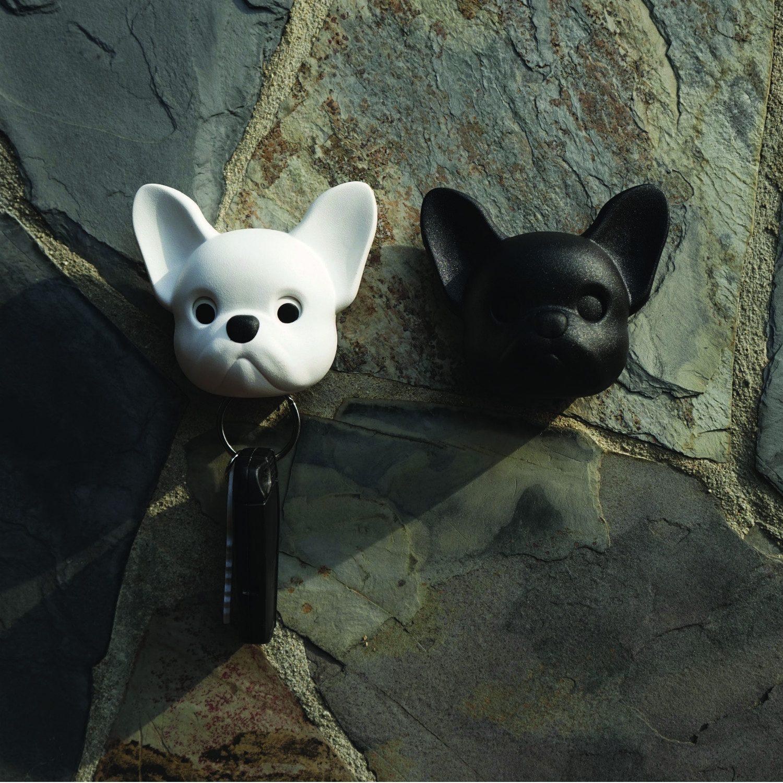 Qualy Hond Sleutelhouder - Wit