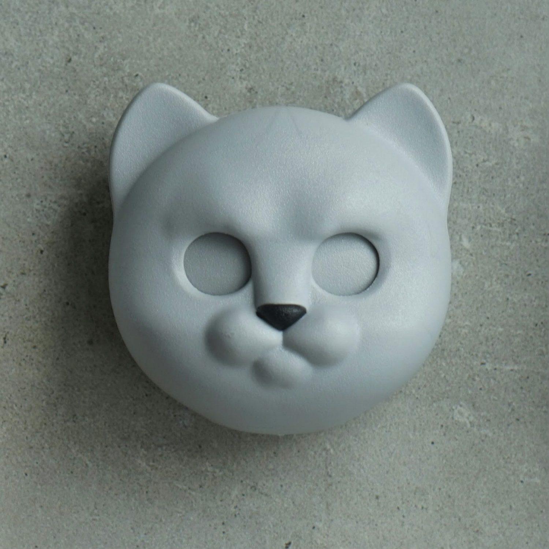 Qualy Kat Sleutelhouder - Grijs