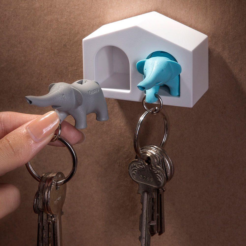 Duo Elephant Sleutelhanger - Qualy