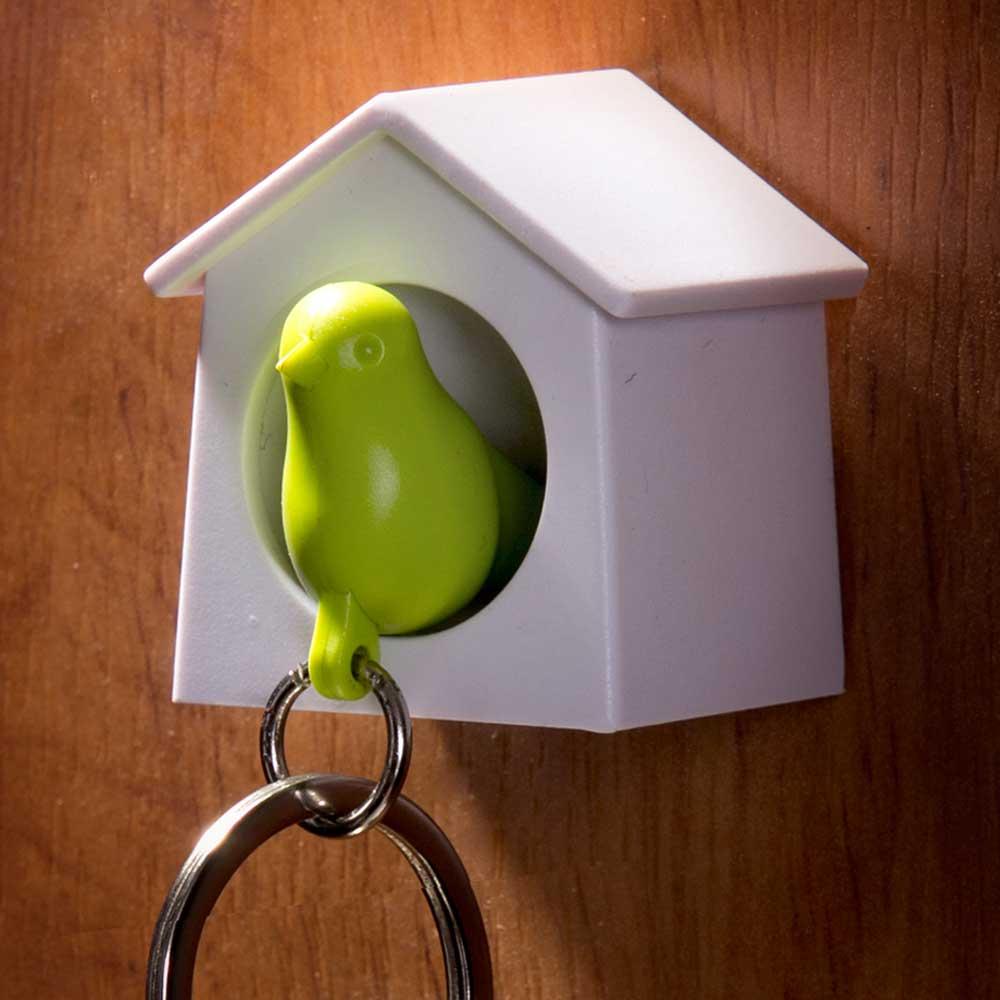 Mini Sparrow Sleutelhanger - Groen