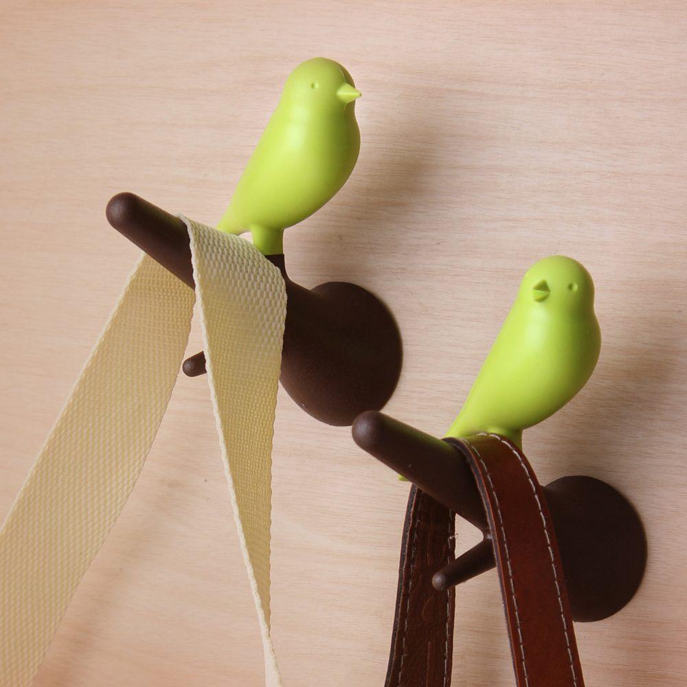 Sparrow Hook Kapstokhaken (Set Van 2) - Bruin/Groen - Qualy