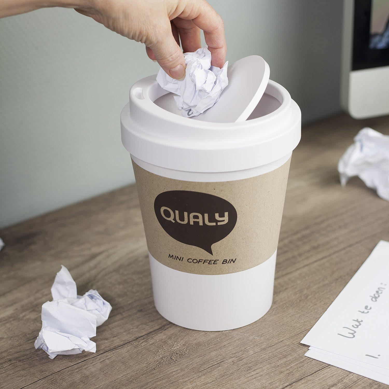 Qualy Koffiebeker prullenbak klein