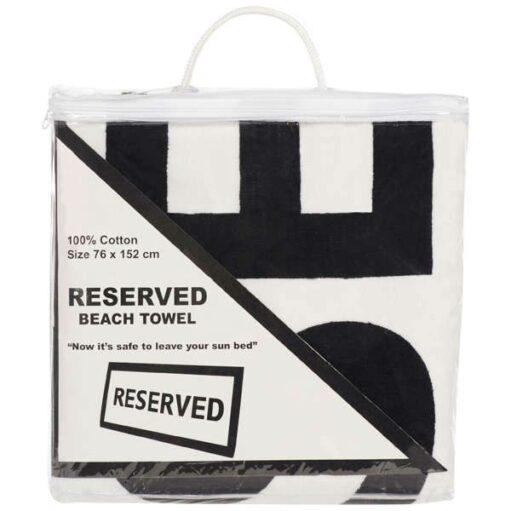 Verpakking van de Reserved Badhanddoek