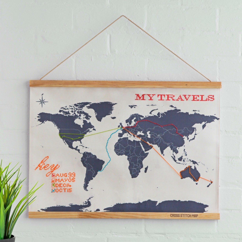Borduur Wereldkaart