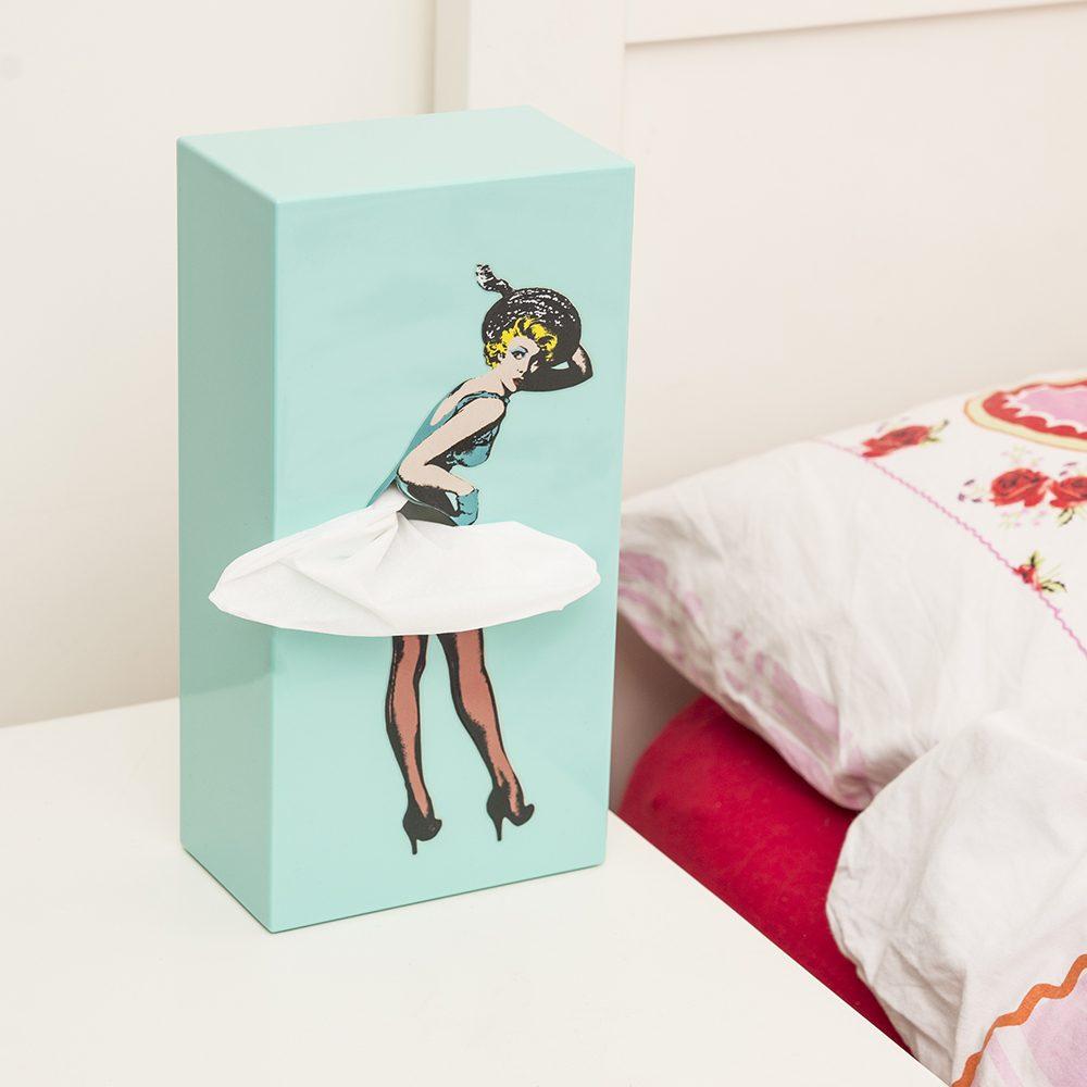 Tissue Up Girl Tissuedispenser - Mint - Luf Design