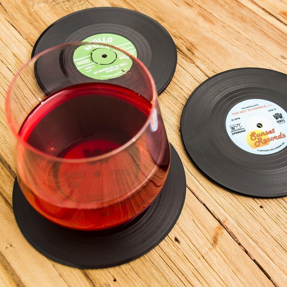 Spinning Hat Vinyl Onderzetters (set van 6)