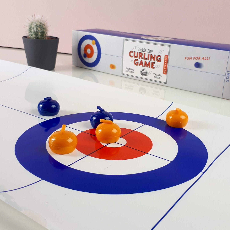 Curling Game Voor Op Tafel