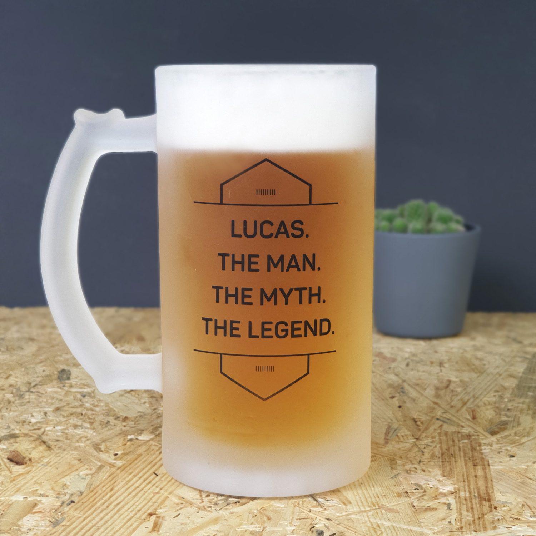 Gepersonaliseerde bierpul The man the myth the legend