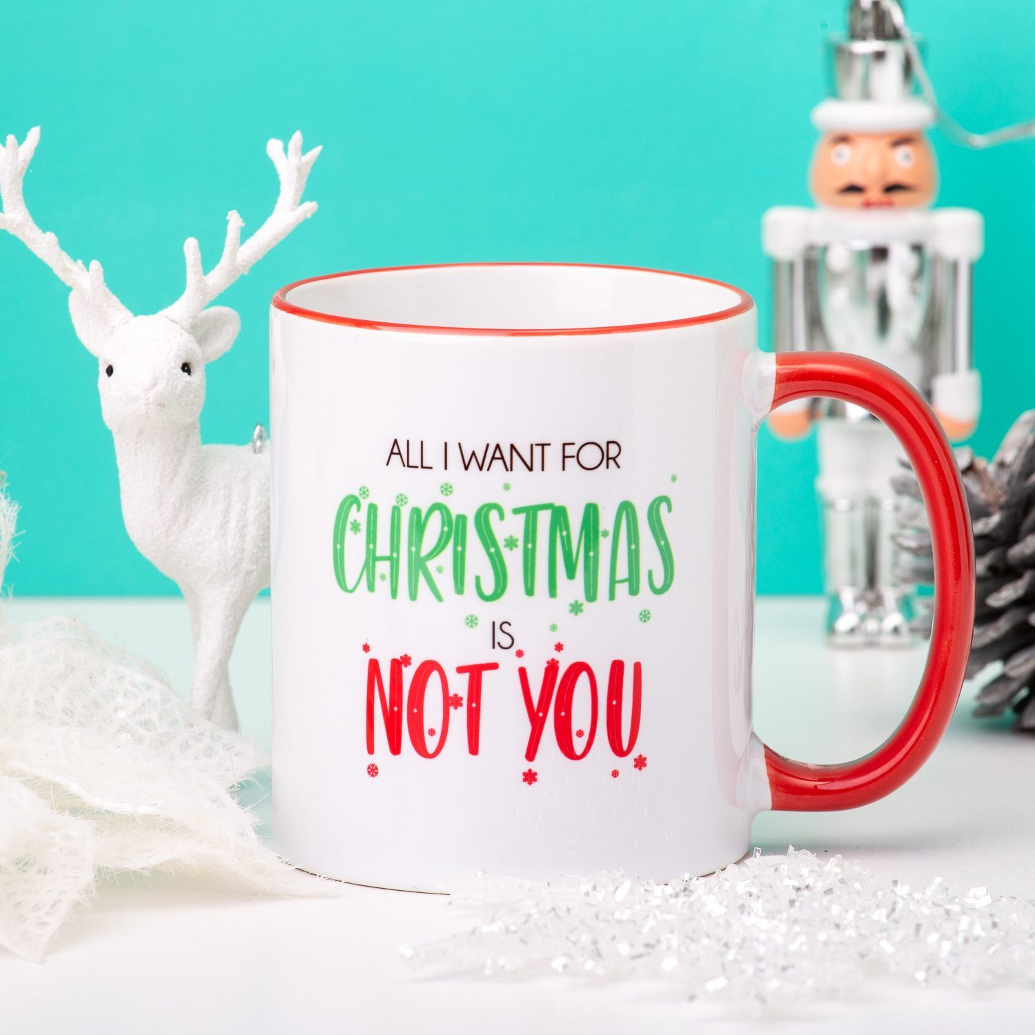 Gepersonaliseerde Mok All I Want For Christmas Is... - Nutcrackers