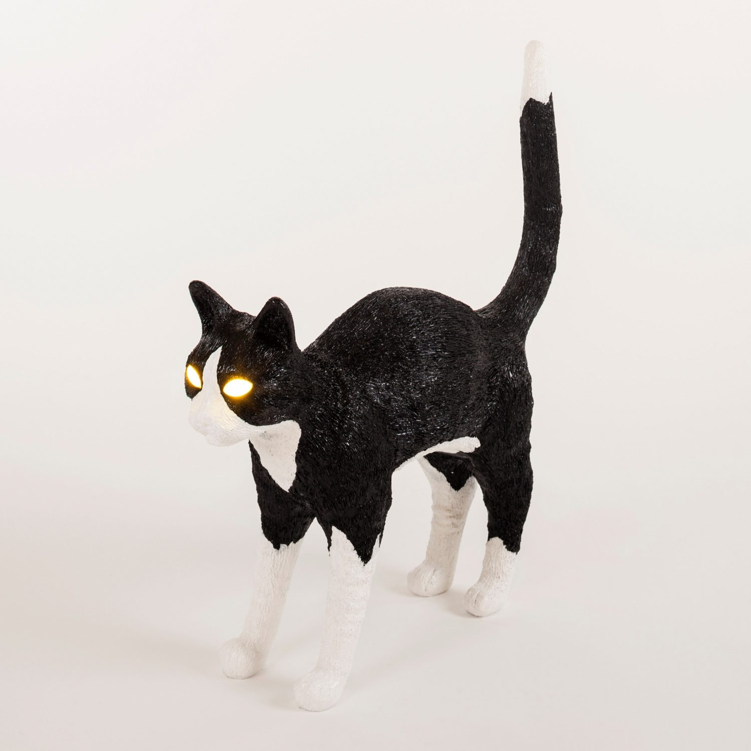 Cat Lamp - Wit/Zwart