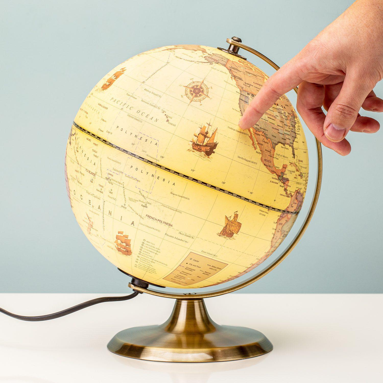 Balvi Antieke Globe Met Verlichting
