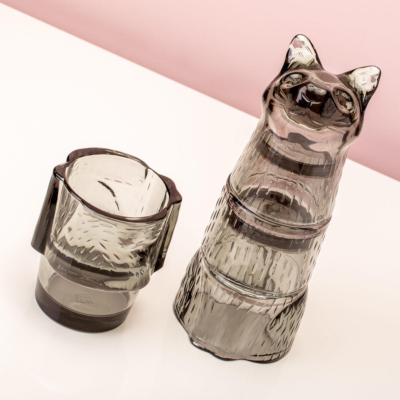Kitty Stapelbare Glazen (Set Van 4) - Zwart - DOIY