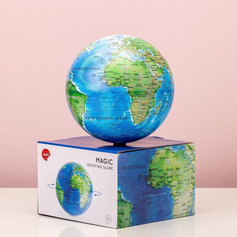 Magisch Draaiende Globe - Blauw - Balvi
