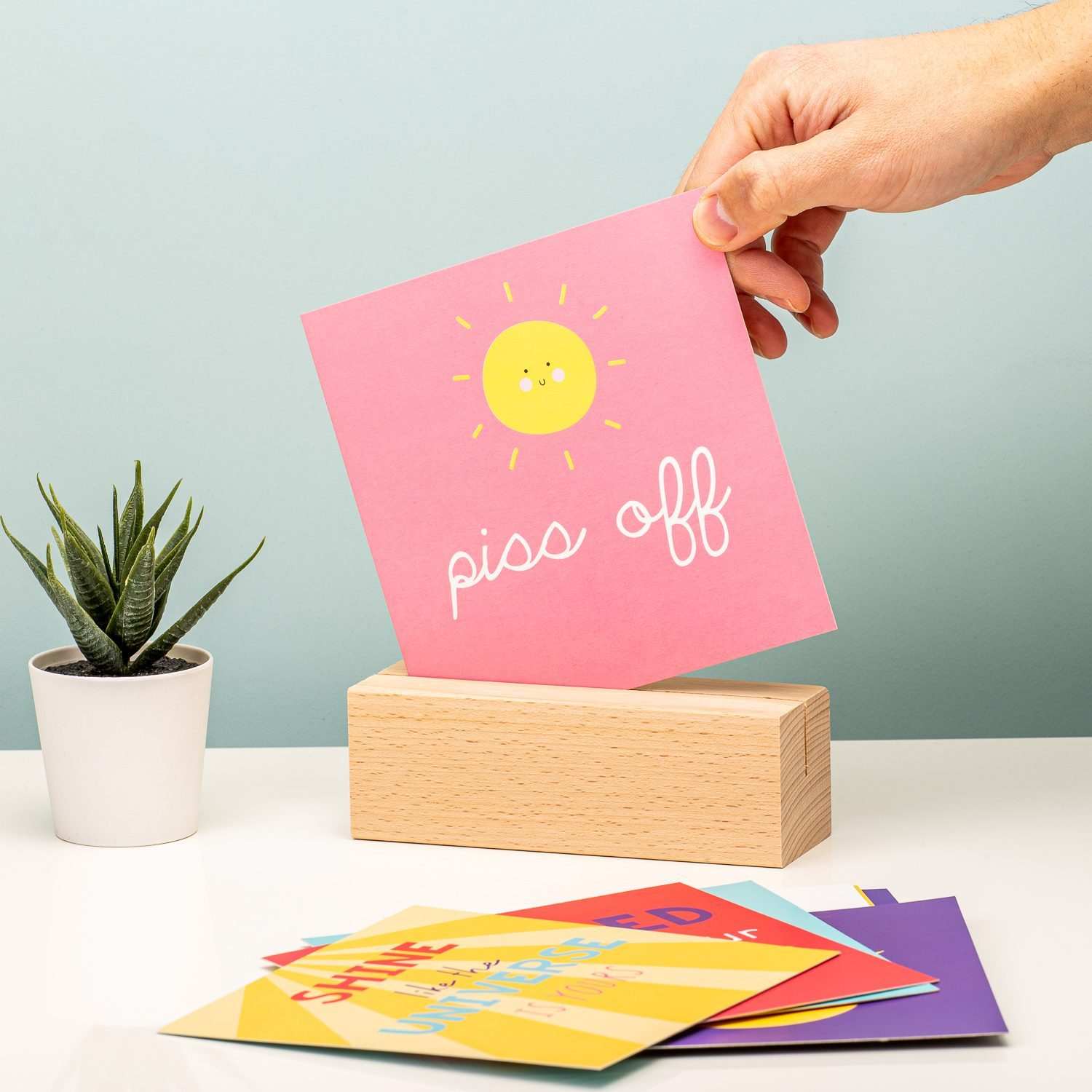 Positive Vibes Quotes Display - Fizz