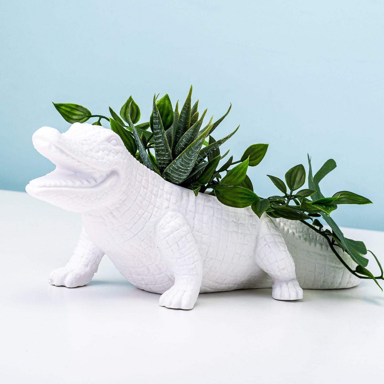 Krokodil Bloempot - Bitten
