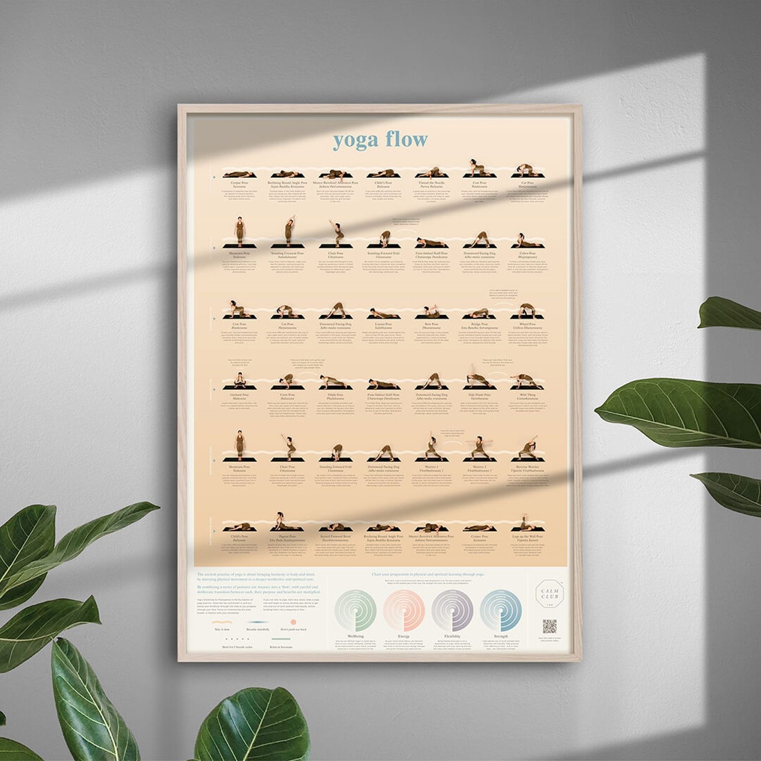 Calm Club Yoga Flow Poster