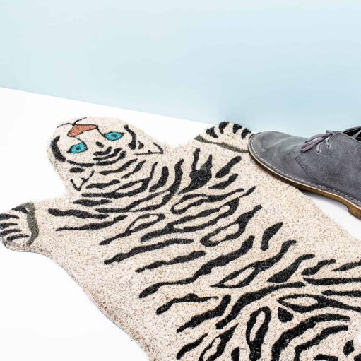 white tiger doormat