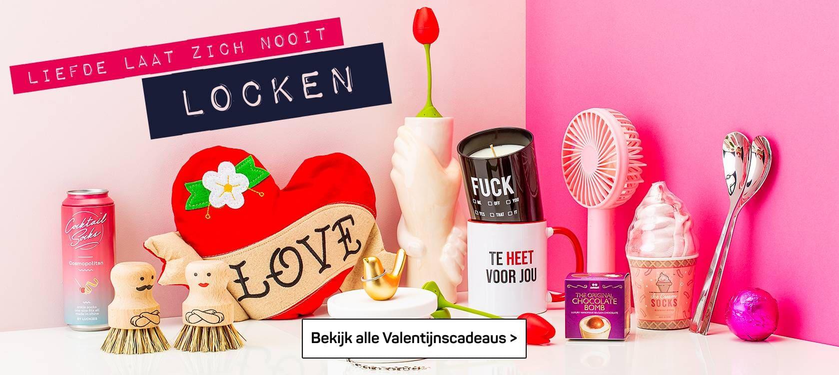 Valentijn laat zich niet locken - bekijk alle valentijnscadeaus