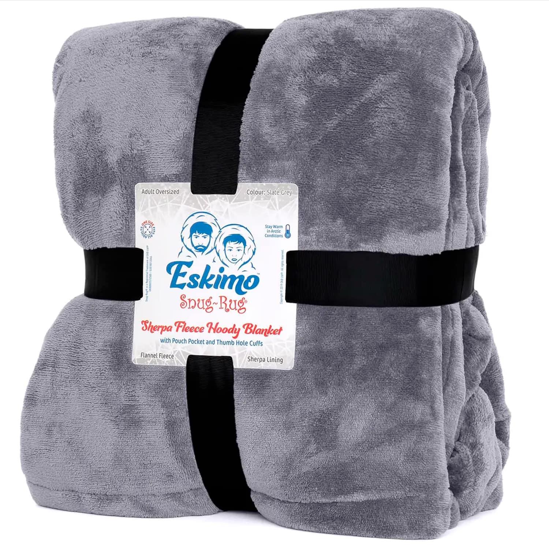 Snug Rug Eskimo Hoodie Deken - Lilagrijs