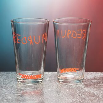 The Shining Redrum glas