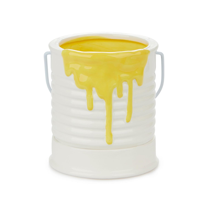 Verfpot Bloempot - Geel/klein