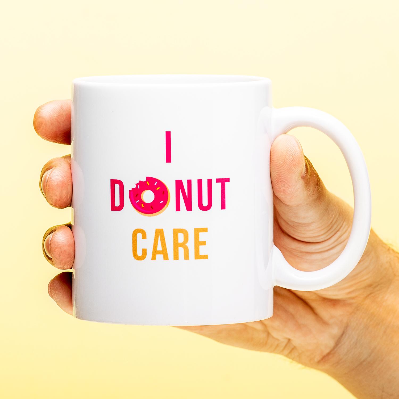 I Donut Care Mok