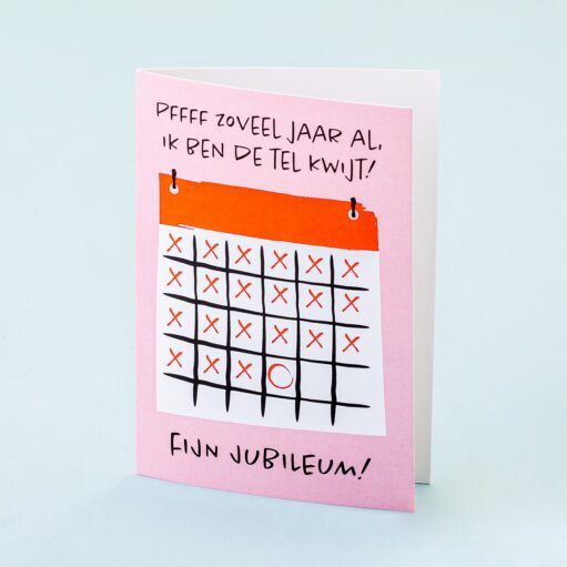 Wenskaart Jubileum kalender